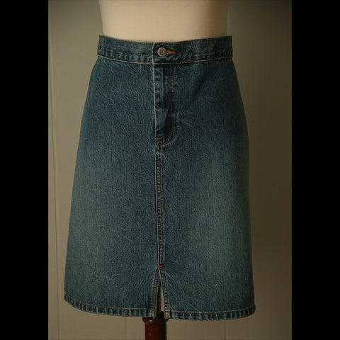 Denim Tiny Split Vintage Skirt (L/XL)