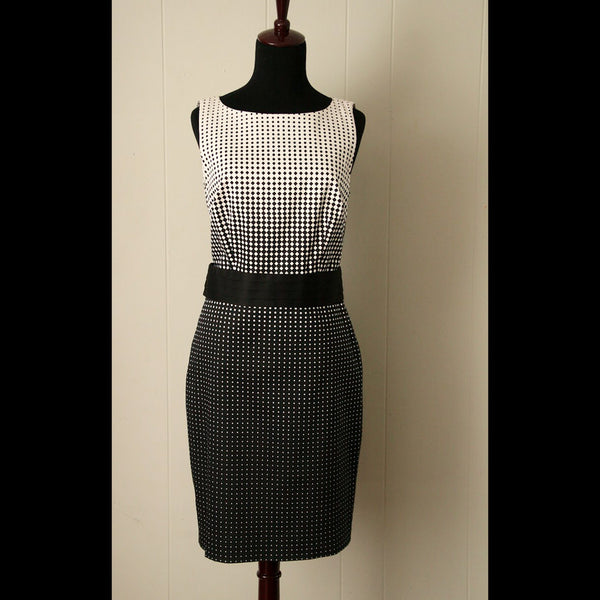 Black & White Vintage Dot Dress (M)