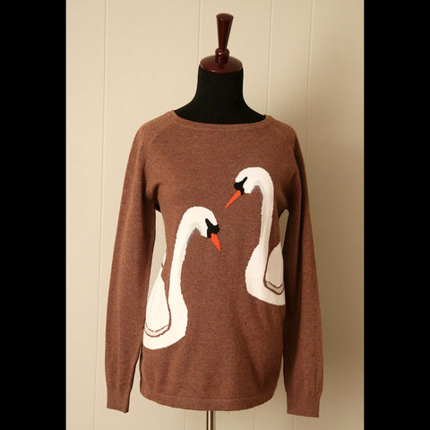 Brown Swan Vintage Sweater (M/L)