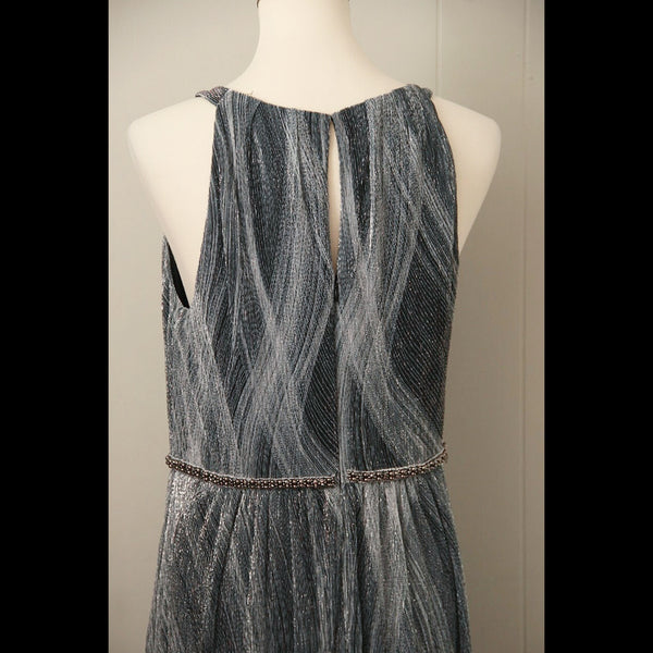 Black & White Shimmer Maxi Vintage Dress (M/L)