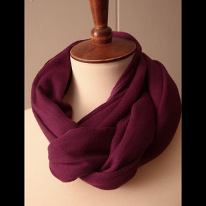 Long Purple Vintage Scarf