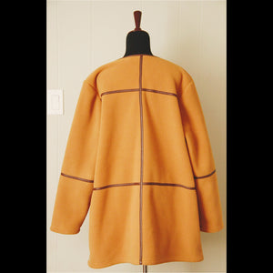 Mustard Fleece Linear Vintage Jacket (XL)