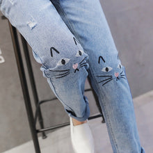 Load image into Gallery viewer, Kitten Stitch Straight Maternity Jeans