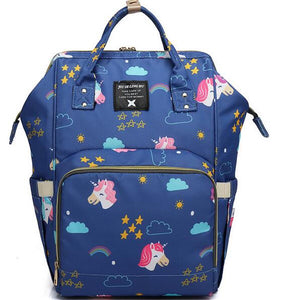 Unicorn Pattern Baby Nappy Bag