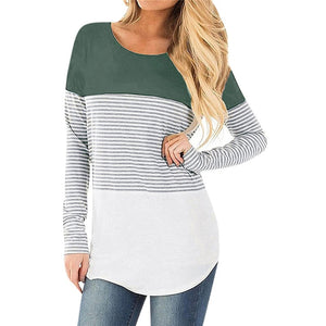 Striped Maternity & Breastfeeding Striped Long Sleeve T-Shirt