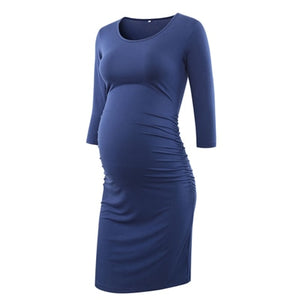 Pack of 3pcs Side Ruched Maternity Dresses