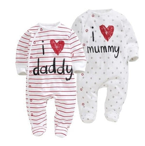 Baby Boy & Girl Cotton Long Sleeve Sleepsuit