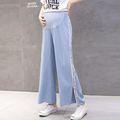 Wide Leg Loose Hippy Style Maternity Jeans