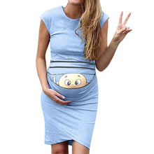 Load image into Gallery viewer, Peaking Baby Knee Length Maternity Dress