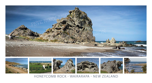 HONEYCOMB ROCK COASTAL MONTAGE