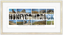 Load image into Gallery viewer, HONEYCOMB ROCK WORD COASTAL MONTAGE