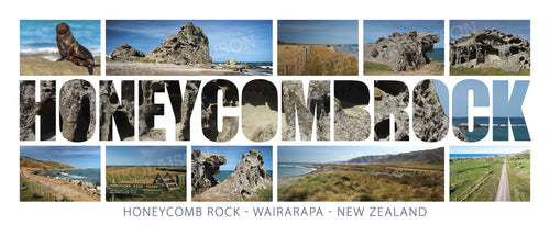 HONEYCOMB ROCK WORD COASTAL MONTAGE