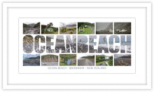 Load image into Gallery viewer, OCEAN BEACH WORD COASTAL MONTAGE