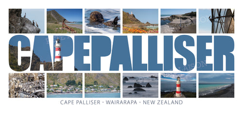 CAPE PALLISER WORD COASTAL MONTAGE