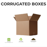 Recycled, recyclable and biodegradable corrugated box