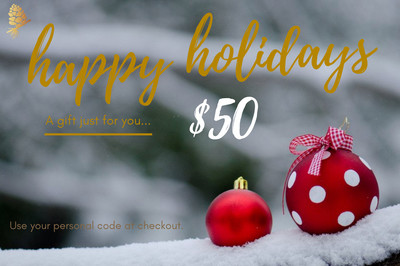 Holiday Ornament E-Gift Cards