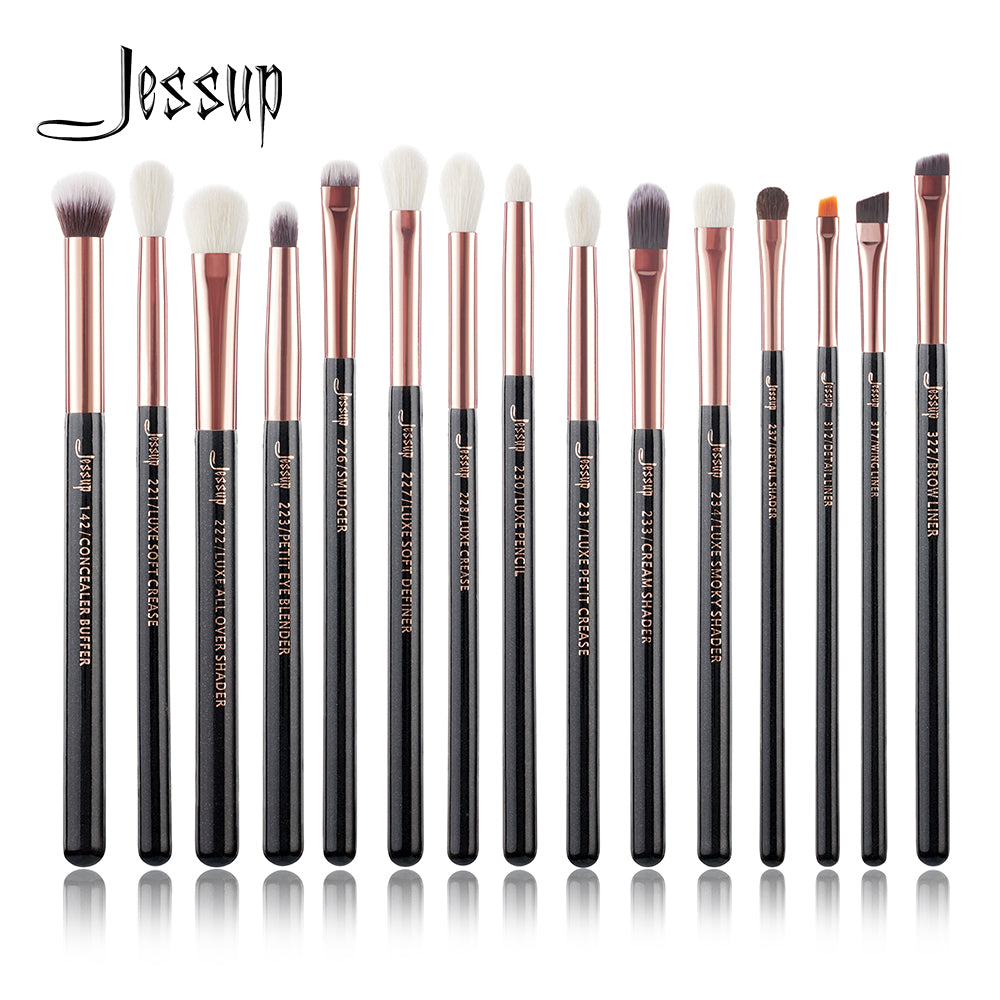 Jessup Black / Rose Gold 15 Piece Eye Makeup Set