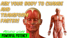 Load image into Gallery viewer, ASK YOUR BODY PERMISSION TO CHANGE AND TRANSFORM FASTER! SUBLIMINAL AFFIRMATIONS! FREQUENCY WIZARD