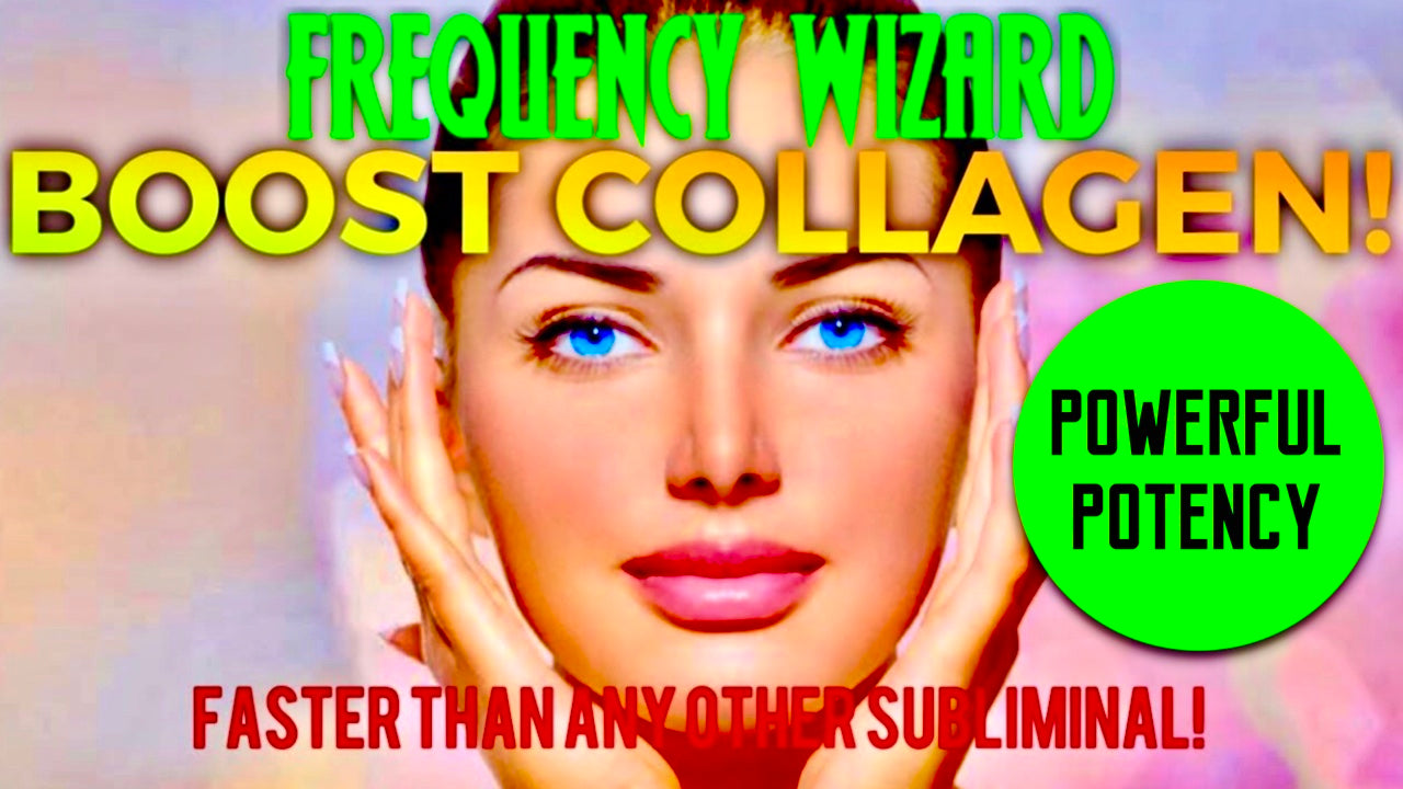 BOOST TONS OF COLLAGEN PRODUCTION IN YOUR FACE FAST! POWERFUL SUBLIMINAL AFFIRMATIONS MEDITATION - FREQUENCY WIZARD