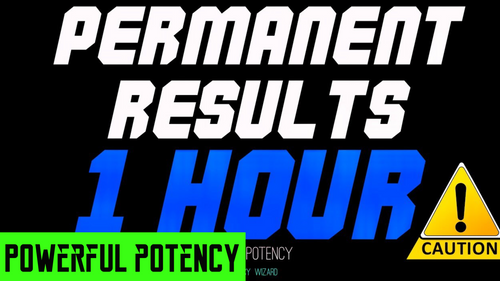 GET PERMANENT SUBLIMINAL RESULTS IN 1 HOUR! PROCEED WITH CAUTION! SUBLIMINAL FREQUENCY WIZARD - NOVICE POTENCY