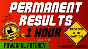 GET PERMANENT SUBLIMINAL RESULTS IN 1 HOUR! PROCEED WITH CAUTION! SUBLIMINAL FREQUENCY WIZARD - MEDIAN POTENCY - FREQUENCY WIZARD