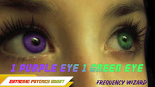 Load image into Gallery viewer, Get 1 Purple & 1 Green Eye Fast! Heterochromatic Eyes! Subliminals Frequencies Hypnosis