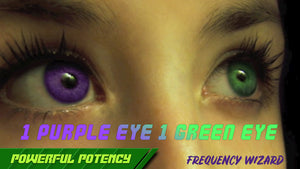Get 1 Purple & 1 Green Eye Fast! Heterochromatic Eyes! Subliminals Frequencies Hypnosis