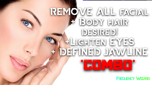 REMOVE UNWANTED FACIAL & BODY HAIR FAST + LIGHTEN EYES & GET DEFINED JAW LINE! *WORKS FOR MTF ALSO! - FREQUENCY WIZARD