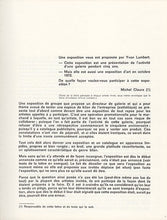 Load image into Gallery viewer, Yvon Lambert Actualité d'un bilan Paris 1972
