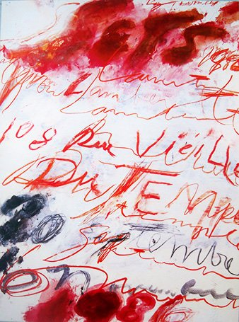 Cy Twombly - print (1986)