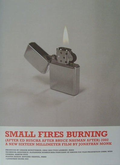 Jonathan Monk - Small Fires Burning