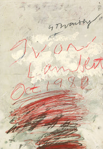 Cy Twombly - Poster project (1980)