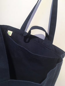 Yvon Lambert Large Tote Bag Navy Blue