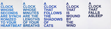 David Horvitz - Proposals for clocks (limited edition blue set)