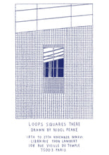 Load image into Gallery viewer, Nigel Peake - Loops Squares There (print)