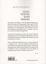 Load image into Gallery viewer, René Denizot - Cent textes sans images