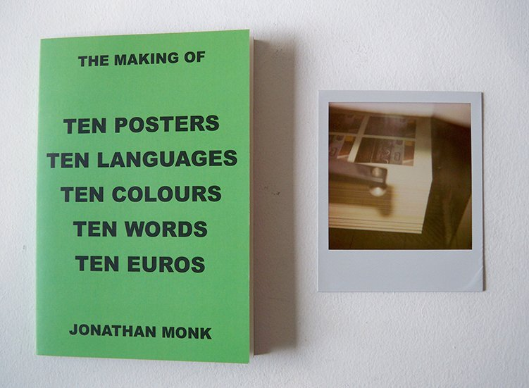 Jonathan Monk - The making of Ten Posters...limited edition with signed polaroid (7)