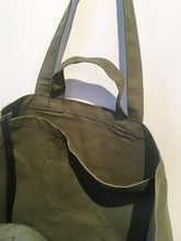 Load image into Gallery viewer, Yvon Lambert Tote bag - Large Kaki Green