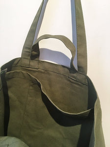 Yvon Lambert Tote bag - Large Khaki Green