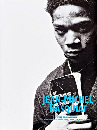 Jean Michel Basquiat at Vrej Baghoomian Poster