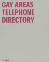 Load image into Gallery viewer, Matt Connors - Gay Areas Telephone Directory