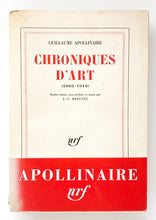 Load image into Gallery viewer, Guillaume Apollinaire - Chroniques d'art