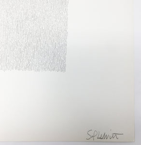 Sol Lewitt - Vertical lines, not touching, 1971