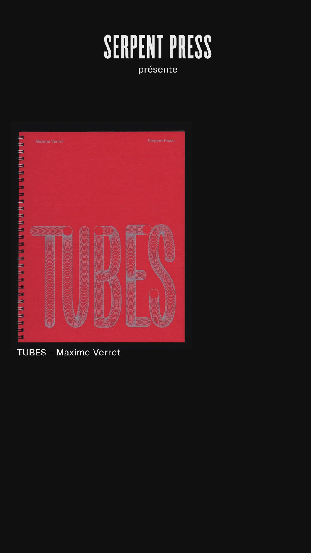 Maxime Verret - Tubes / Paul Grund - Paris 2020 N°3