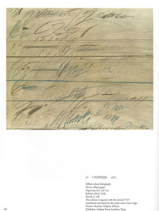 "Cy Twombly ""untitled"" lithograph"