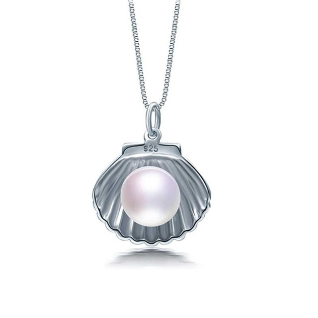 Oyster Silver Pearl Pendant