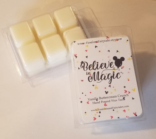 Believe in Magic Wax Melts and Candles - Vanilla Buttercream Crunch Scented