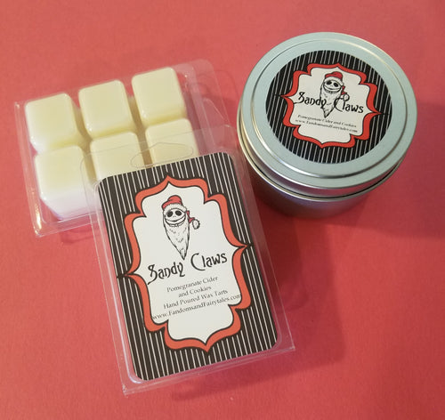 Sandy Claws Wax Melts and Candles - Pomegranate Cider Scented