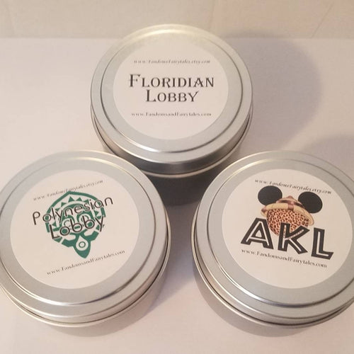 WDW Inspired Candle Tins
