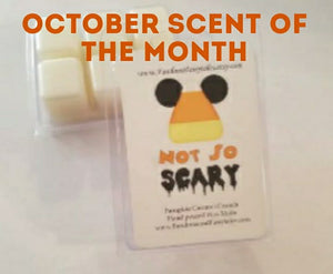 October 2020 Scent of the Month Not so Scary Pumpkin Caramel Crunch Wax Melts and Candles.